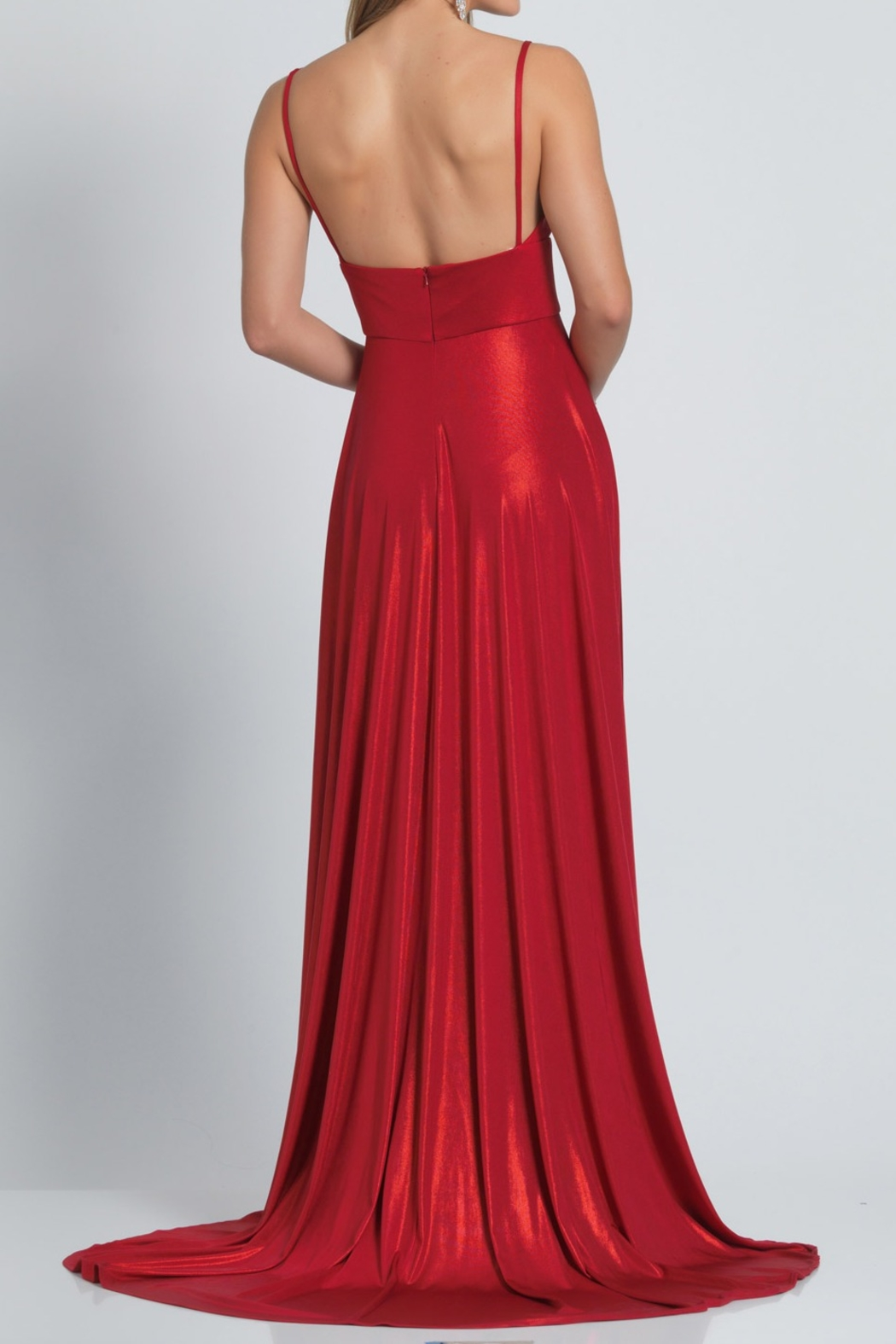Dave and Johnny Slip Gown W/ Slit - Main Image