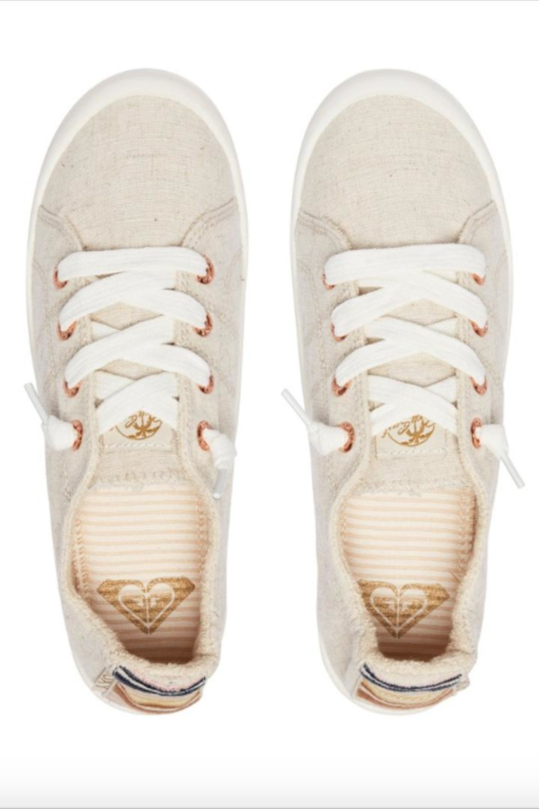 Roxy Slip-On Canvas Shoes - Back Cropped Image