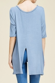 Papermoon Slit Back Tee - Front full body