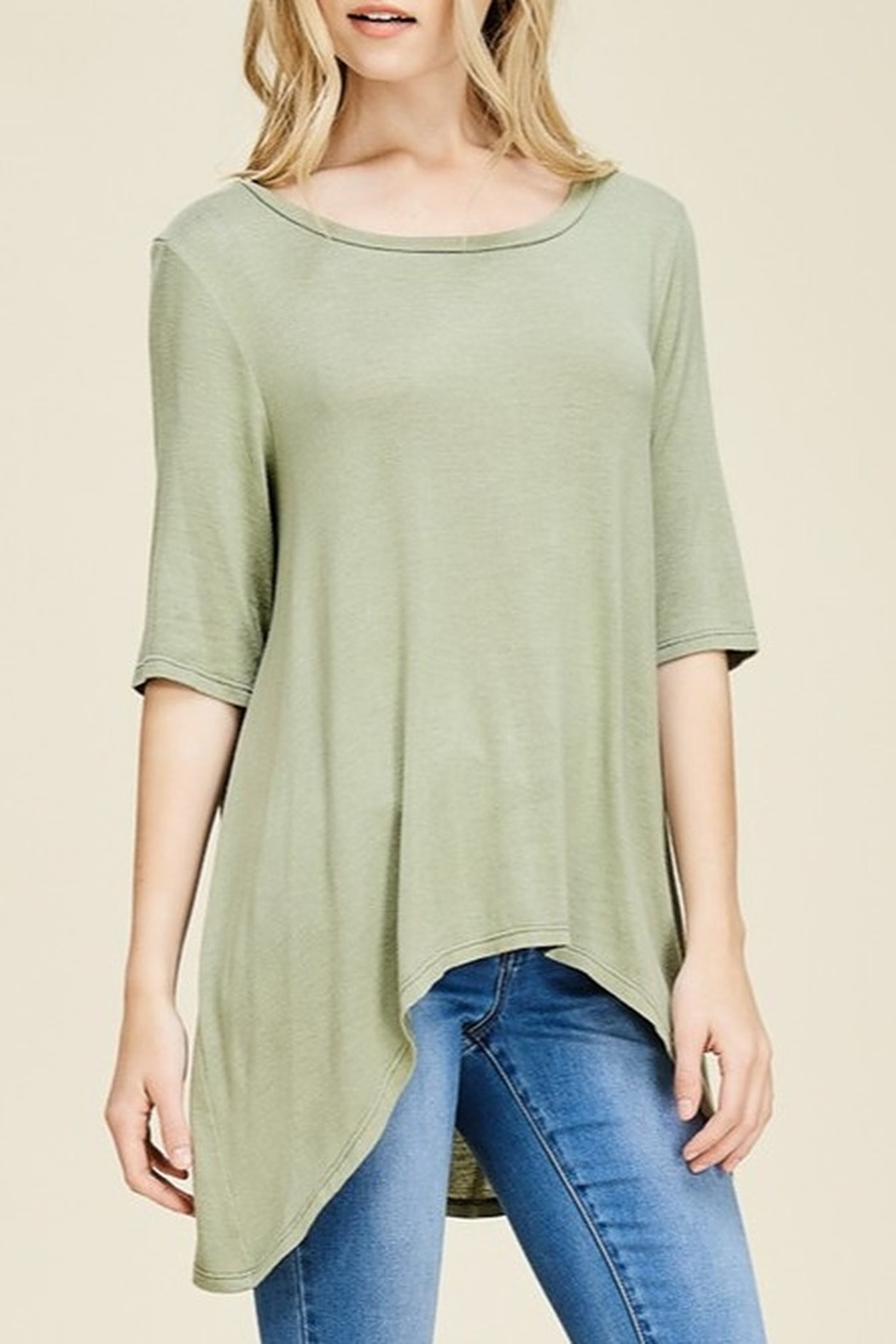 Papermoon Slit Back Tee - Front Cropped Image