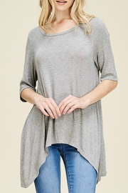 Papermoon Slit Back Tee - Front cropped