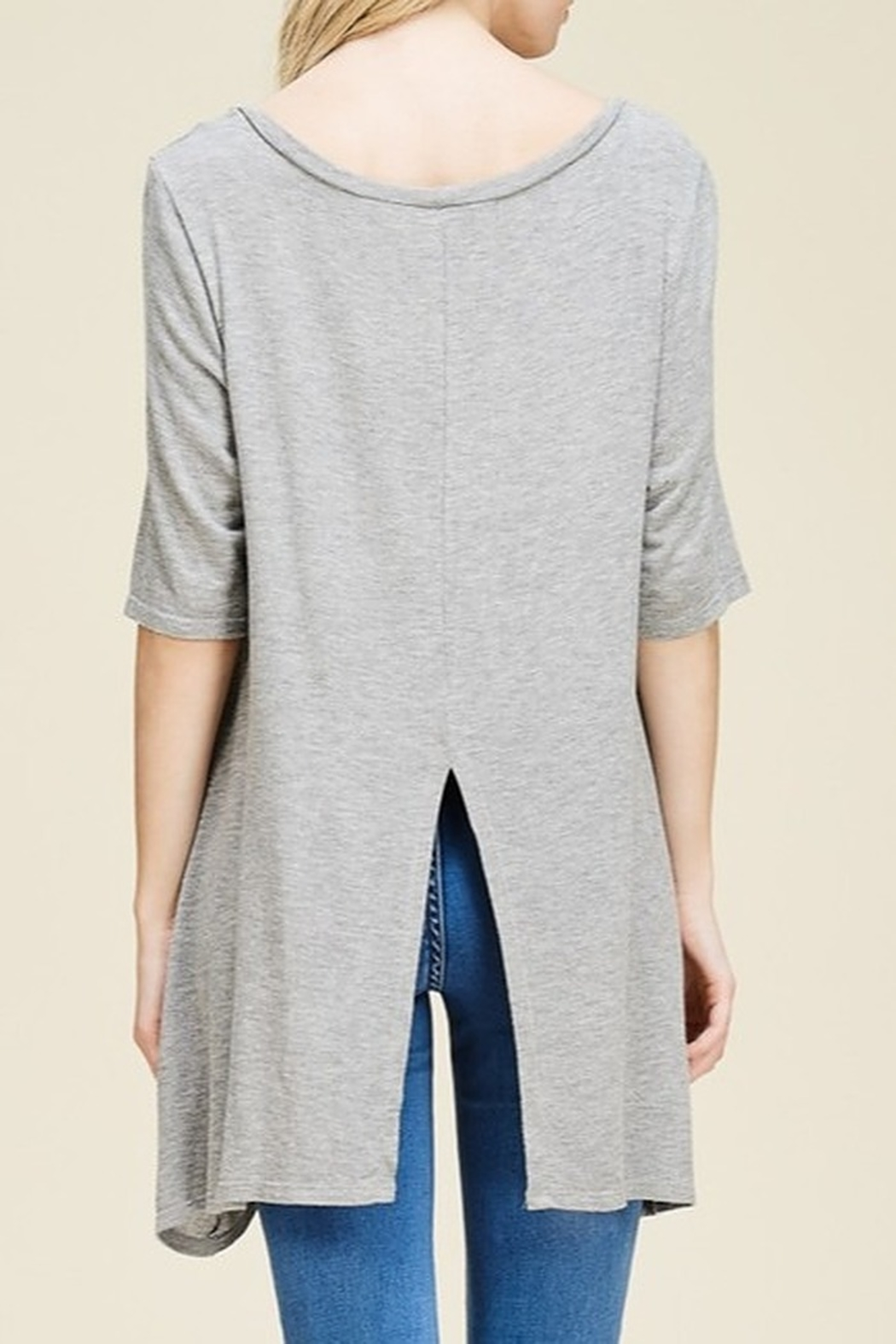 Papermoon Slit Back Tee - Front Full Image