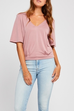 Gentle Fawn Slit Detail Top - Product List Image