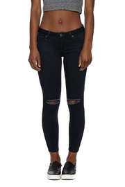 Just Black Denim Slit Knee Jeans - Product Mini Image