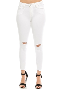 Shoptiques Product: Slit-Knee Skinny Jeans
