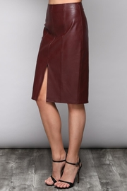 Do & Be Slit Leather Skirt - Side cropped