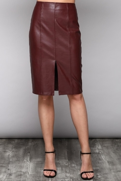 Do & Be Slit Leather Skirt - Product List Image