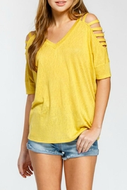 Cherish Slit-Shoulder Oversized Tee - Product Mini Image