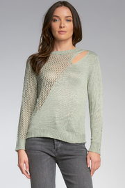Elan  SLIT SHOULDER SWEATER - Product Mini Image