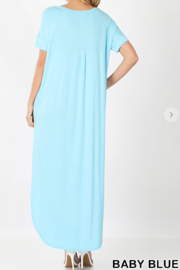 Zenana Slit V-Neck Maxi - Front full body