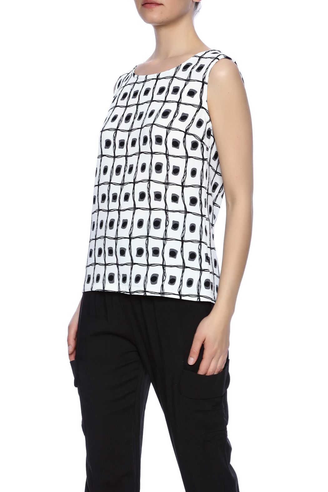 SLN Printed Top - Front Cropped Image