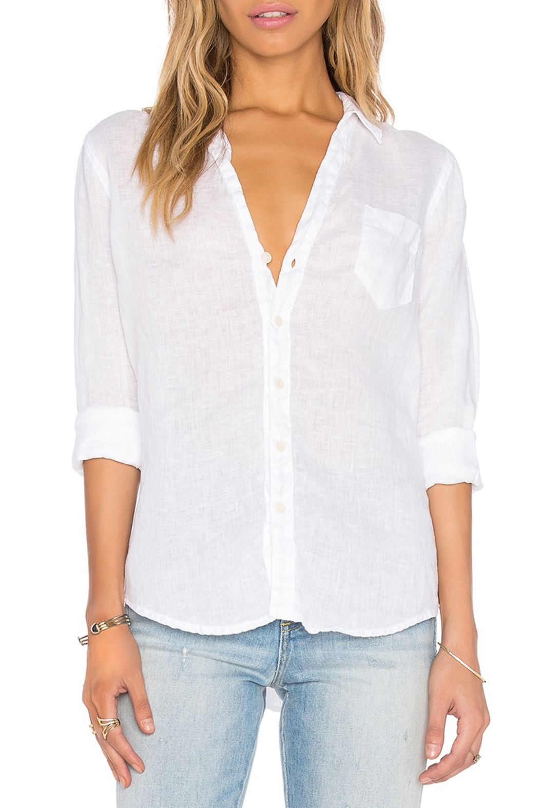 CP Shades Sloane Shirt White - Front Cropped Image