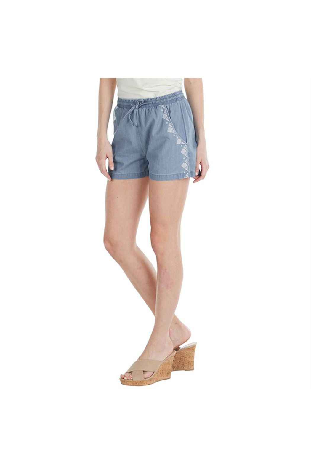 Mud Pie Sloane Shorts - Front Cropped Image