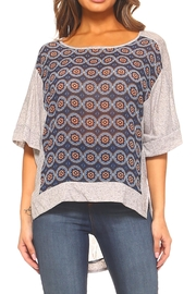 Sloane Rouge Mix Print Top - Product Mini Image