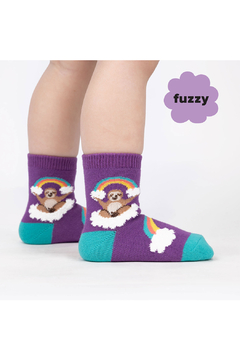 Shoptiques Product: Sloth Dreams Crew Socks - Toddler