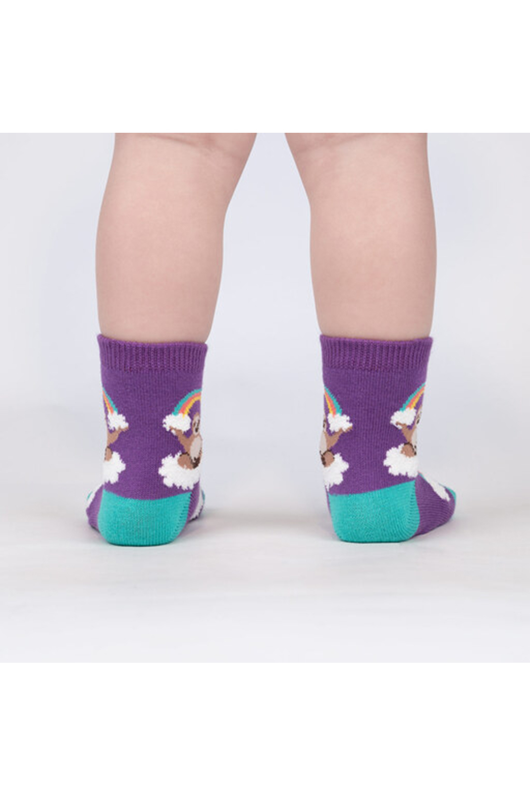 Sock it to me Sloth Dreams Crew Socks - Toddler - Front Full Image