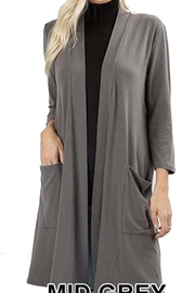 Zenana Outfitters Slouch Pocket Cardigan - Product Mini Image