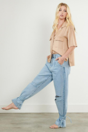 Vibrant MIU SLOUCHY BODY MOM JEANS - Product Mini Image