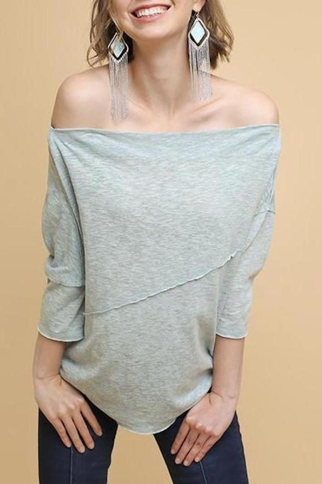 d64403ec1ee80 Umgee USA Slouchy Knit Tee from Austin by Sage Threads   Co ...