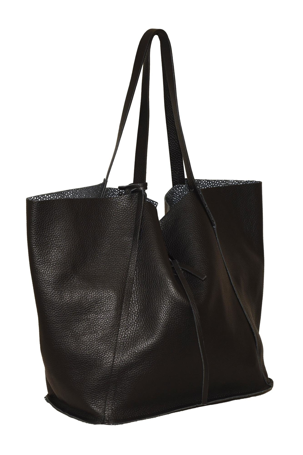 Bevini Modena Slouchy Leather Tote Front Full Image