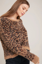 Bella Dahl  Slouchy Leopard Sweater - Front cropped