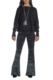 METRIC Slouchy Pindot Center Seam Sweater - Front cropped