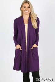 Zenana Outfitters Slouchy Pocket Cardigan - Product Mini Image