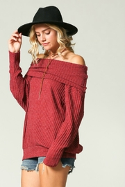 Kye Mi Slouchy Ribbed Top - Front full body