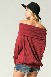 Kye Mi Slouchy Ribbed Top - Side cropped
