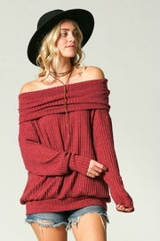 Kye Mi Slouchy Ribbed Top - Front cropped