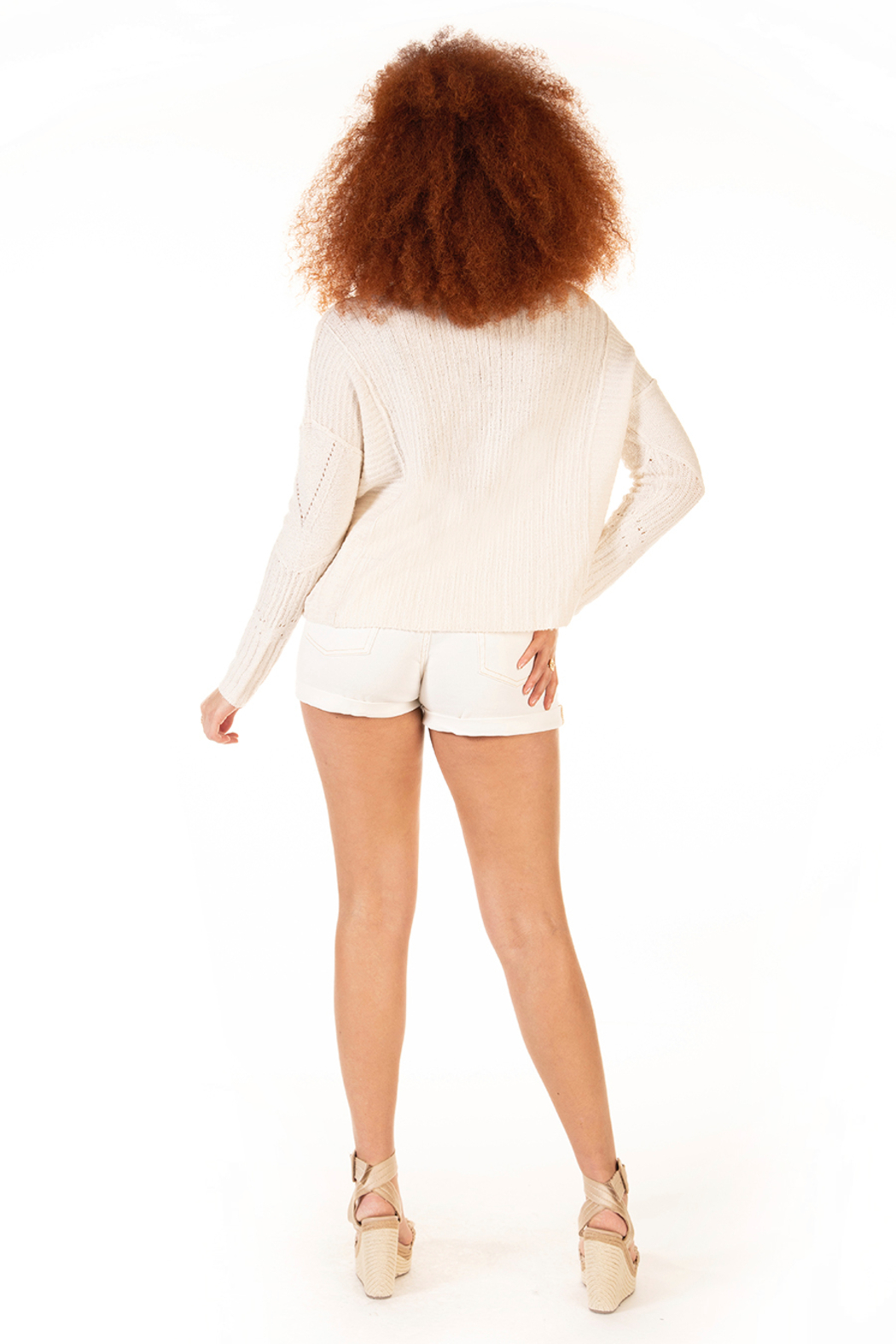Dex Slouchy Shore Sweater - Side Cropped Image