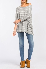 Cherish Slouchy Striped Top - Product Mini Image