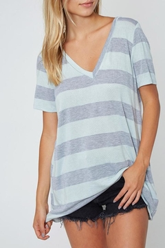 Shoptiques Product: Slouchy Striped V-Neck