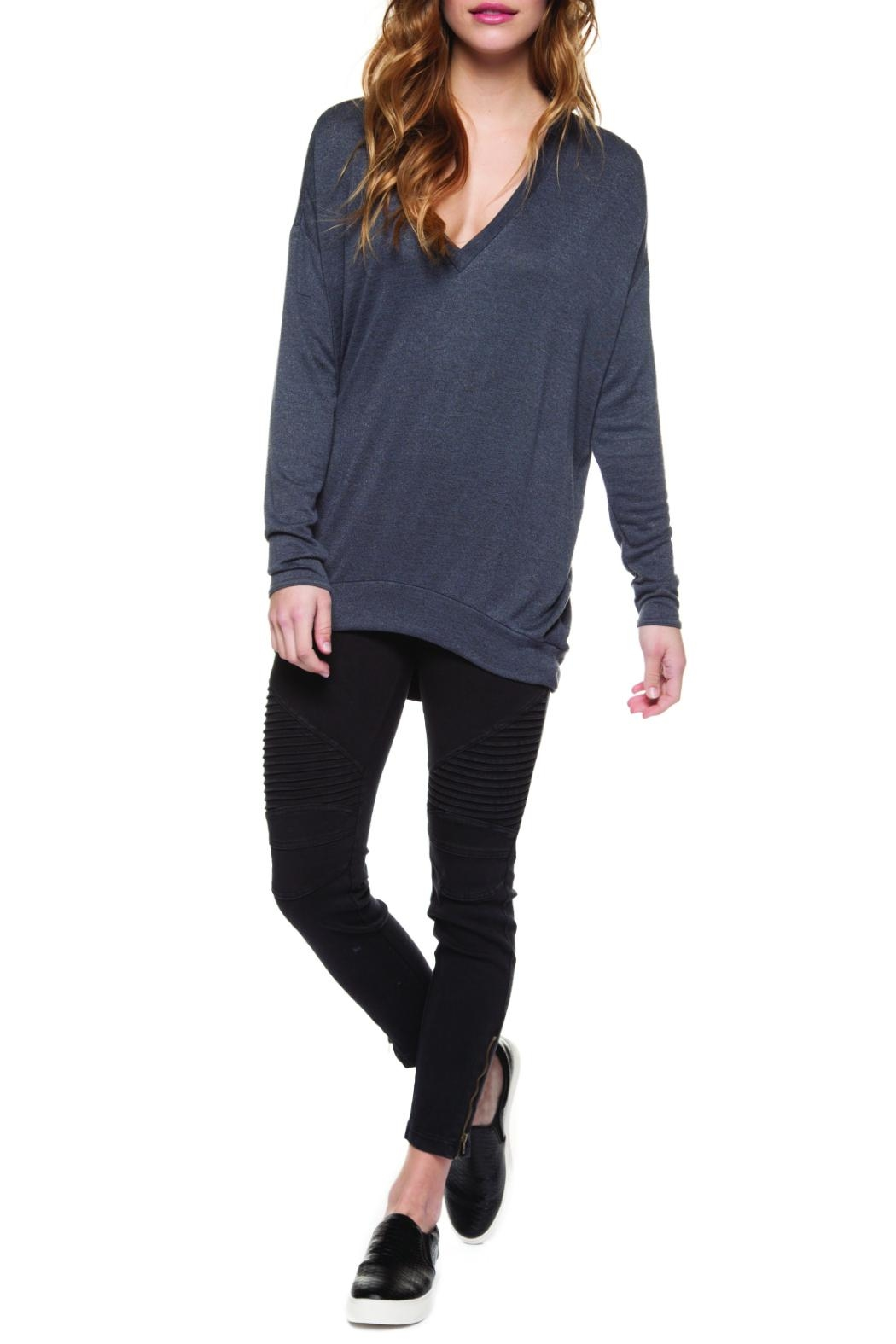 Dex Slouchy Sweater - Front Cropped Image