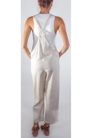 Hem & Thread Slouchy Tan Overalls - Side cropped