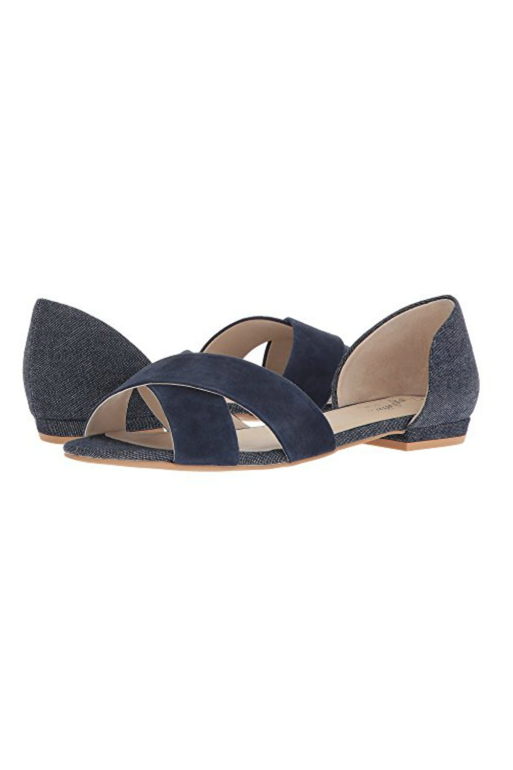 aec1005987 Seychelles Shoes Slow Down Navy Suede Sandal - Front Cropped Image