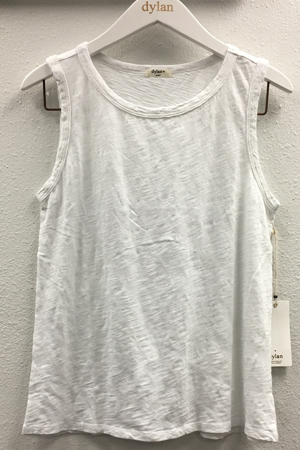 Dylan Slub Cotton Sleeveless Crew - Front Cropped Image