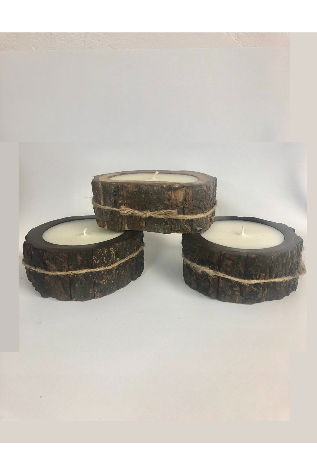 Himalayan Trading Post SM Tree Bark Candle- MOUNTAIN FOREST - Side Cropped Image