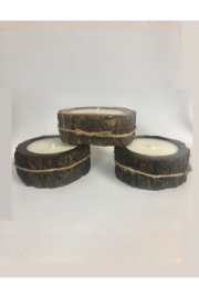 Himalayan Trading Post SM Tree Bark Candle- MOUNTAIN FOREST - Side cropped