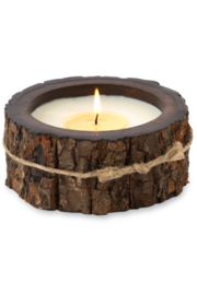 Himalayan Trading Post SM Tree Bark Candle- MOUNTAIN FOREST - Product Mini Image