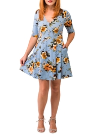 Smak Parlour Blue Floral Dress - Product Mini Image