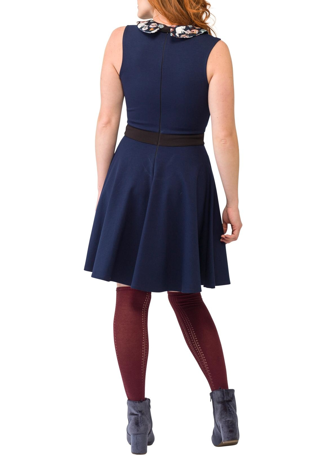 Smak Parlour Cat Collared Dress - Side Cropped Image
