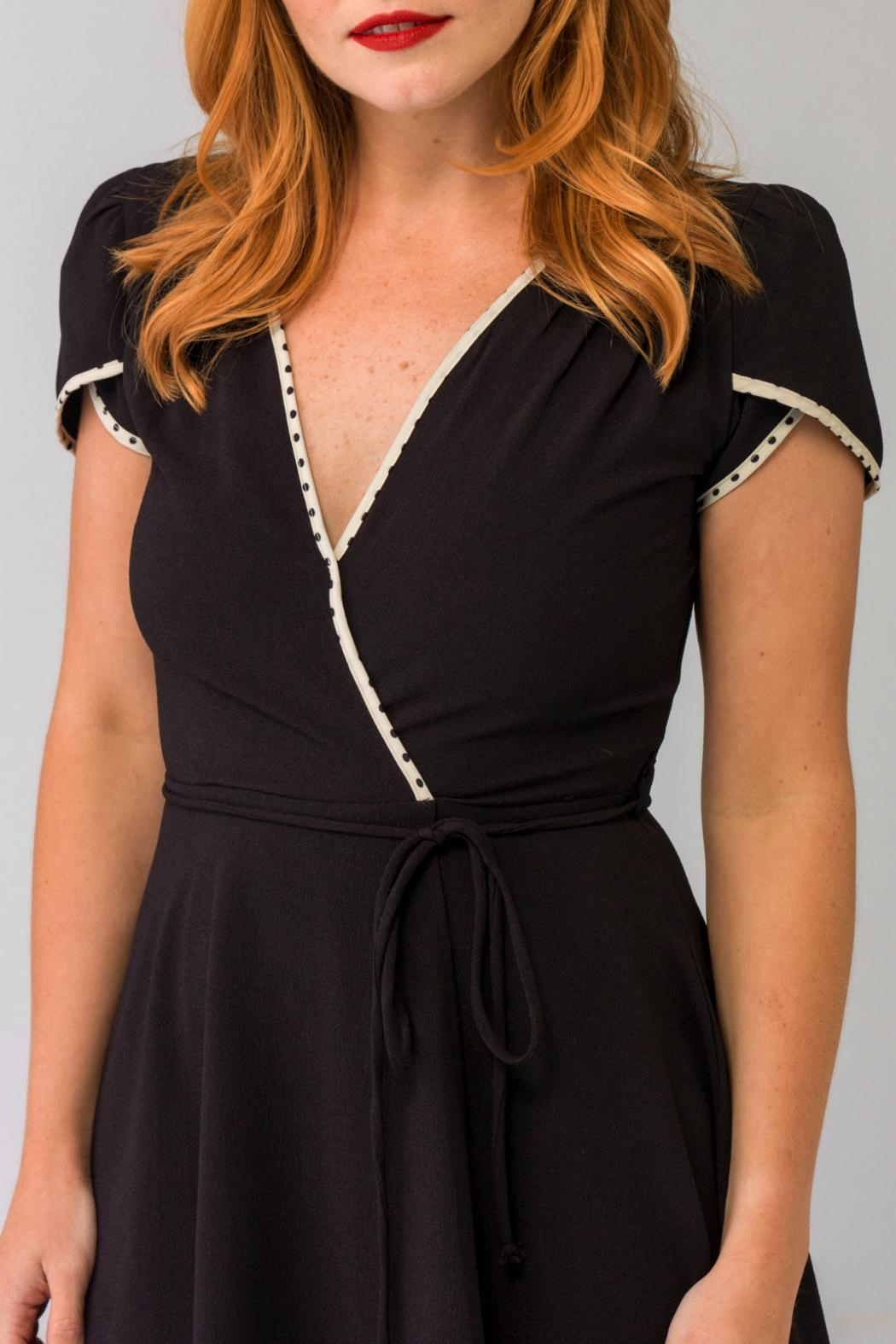 Smak Parlour Classic Wrap Fit&Flare - Side Cropped Image