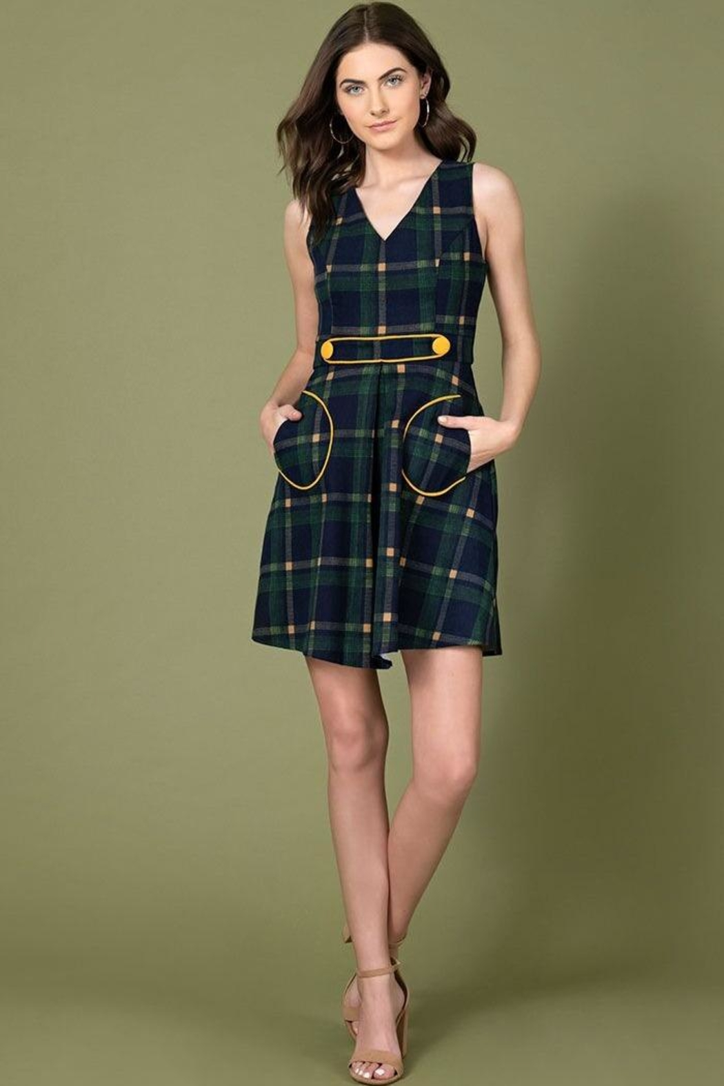 Smak Parlour For Keeps Plaid-Dress - Front Cropped Image