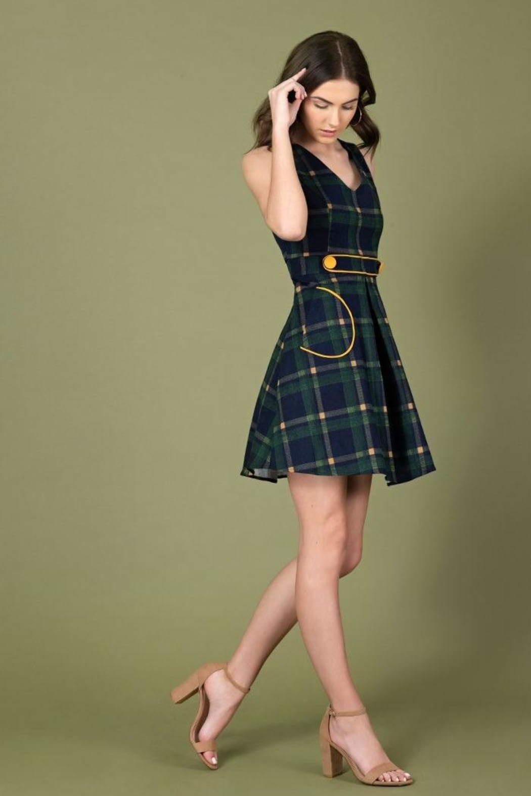 Smak Parlour For Keeps Plaid-Dress - Side Cropped Image