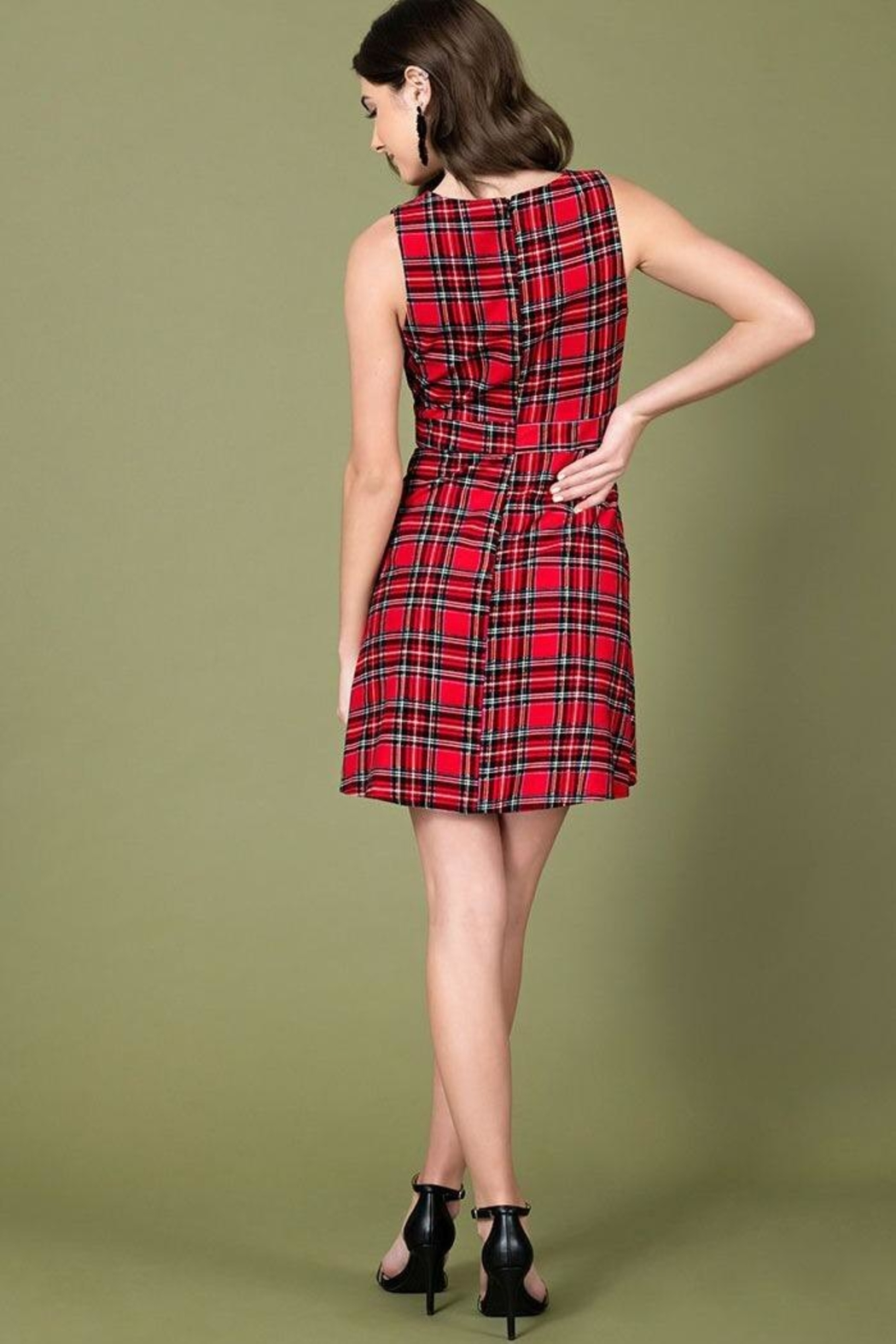 Smak Parlour For Keeps Plaid-Dress - Front Full Image