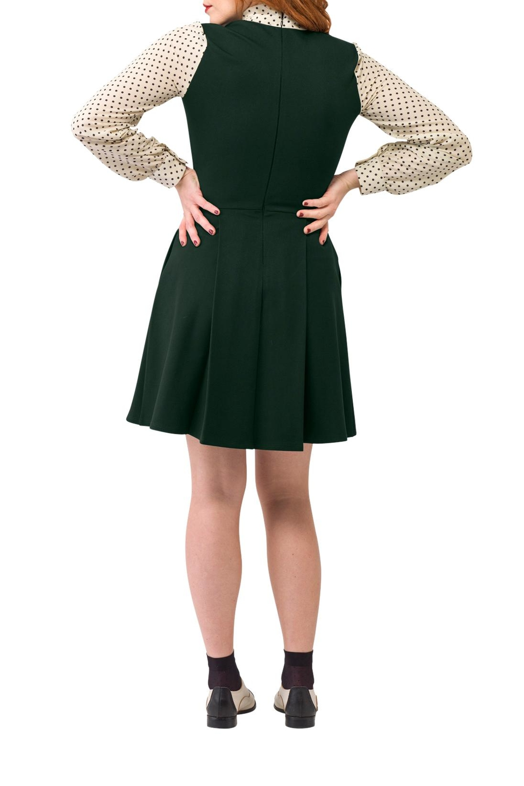 Smak Parlour Green Scholar Dress - Side Cropped Image