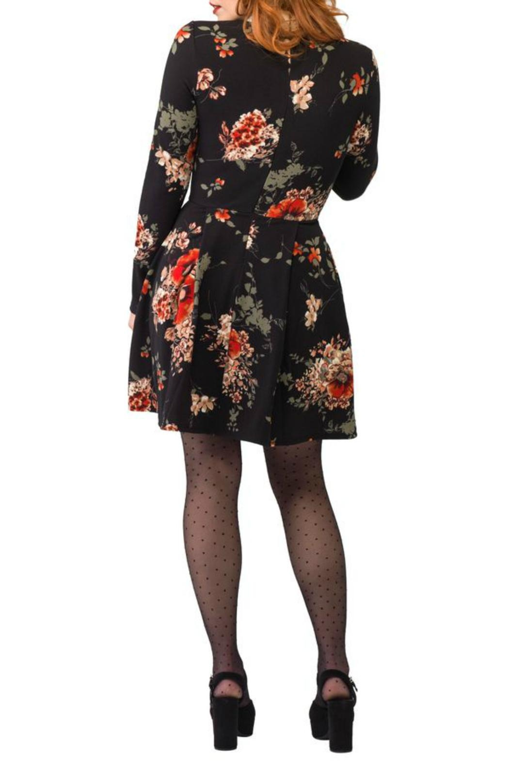 Smak Parlour Liverpool Floral Fit&Flare - Front Full Image