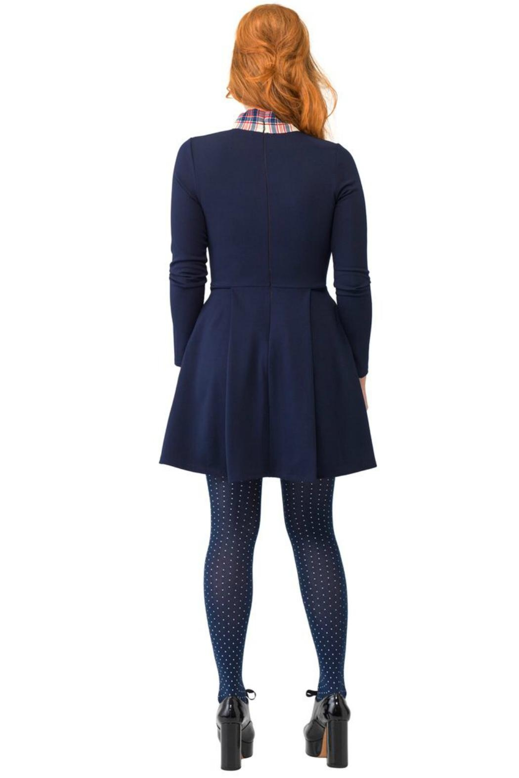 Smak Parlour Liverpool Navy Fit&Flare - Front Full Image