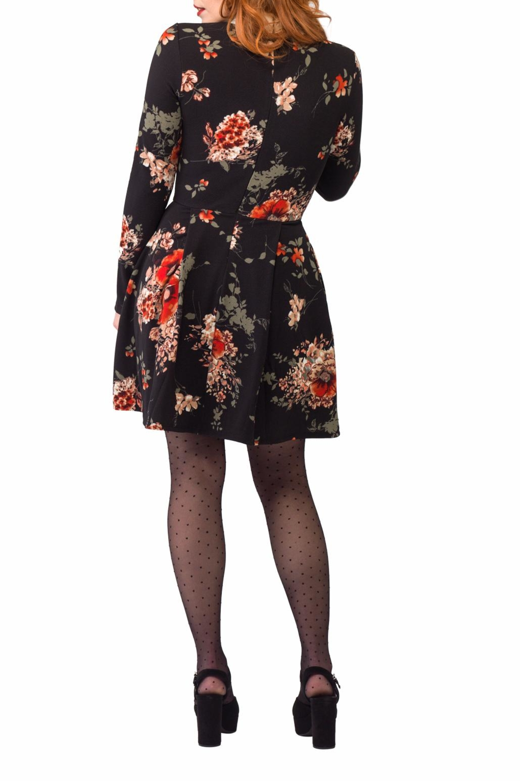 Smak Parlour Long-Sleeve Floral Dress - Side Cropped Image